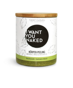 I want you naked Körperpeeling Minze & Avocado-Öl