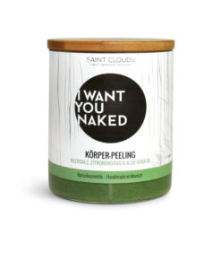 I want you naked Körperpeeling Zitronengras & Aloe Vera
