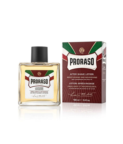 Proraso After Shave Lotion Red Rasierwasser mit Sandelholzduft 100 ml